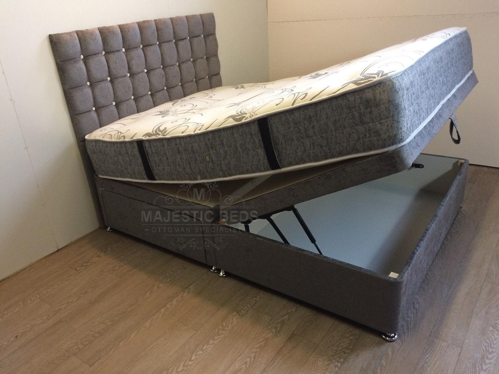 Arabella Upholstered 4 6ft New Bed Divan 2 Drawer And