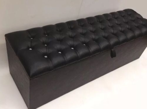 Ottoman Chesterfield Storage Box High Quality Extra Large